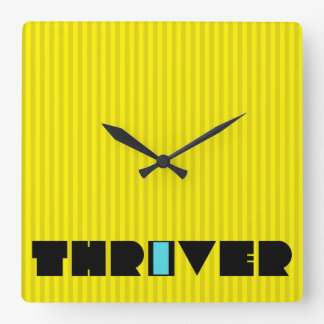 Christian Prophetic Spiritual Warfare THRIVER Square Wall Clock
