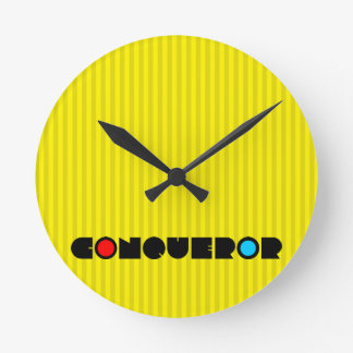Christian Prophetic Worship Warfare CONQUEROR Round Clock