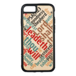 Christian PSALM 23 Colorful Word Art Carved iPhone 8/7 Case