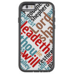 Christian PSALM 23 Colorful Word Art Tough Xtreme iPhone 6 Case