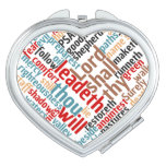 Christian PSALM 23 Colorful Word Art Makeup Mirror
