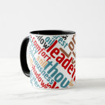 Christian PSALM 23 Colorful Word Art Mug