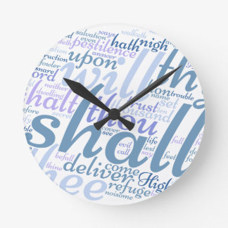 Christian PSALM 91 Round Clock