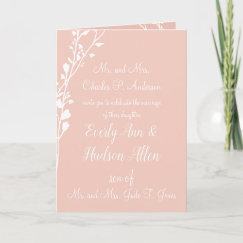Christian Wedding Invitation-Two Are Better Invitation