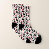 Christmas Black Cat Socks