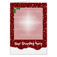 Christmas Card Snowy Template - Vertical