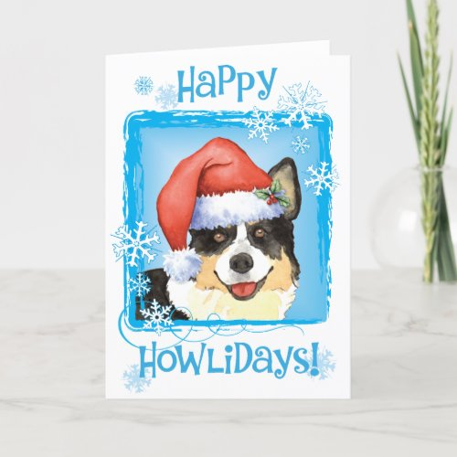 Christmas Cardigan Welsh Corgi Holiday Card
