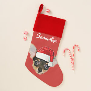 Christmas Chihuahua dog stocking