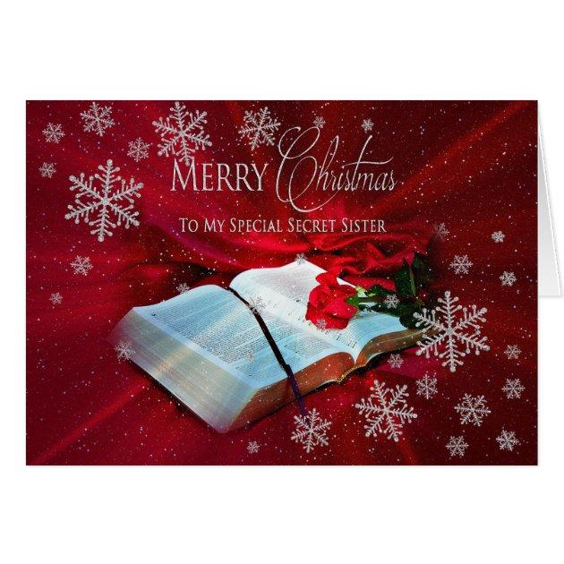 Christmas Christian Secret Sister Card