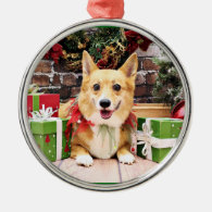 Christmas - Corgi - Pancake Christmas Ornaments
