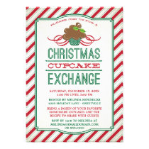 Christmas Cupcake Exchange Party Invitation