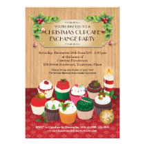 Christmas Cupcake Exchange Party Invites