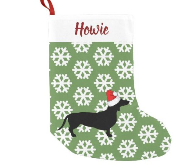 Christmas Dachshund Santa Hat Pets Small Christmas Stocking