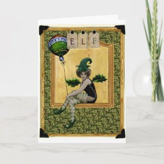 Christmas Elf Greeting Card card