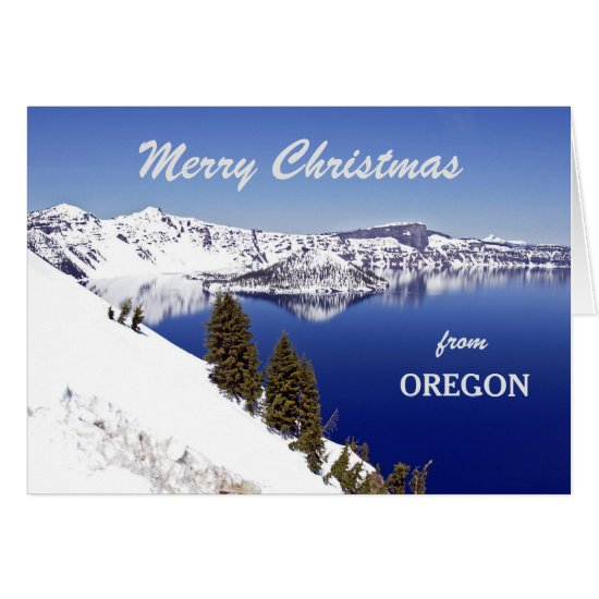 Christmas from Oregon Crater Lake Greeting Card