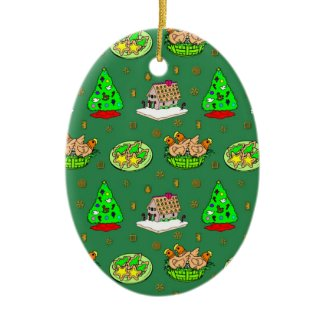 Christmas – Gingerbread Houses & Frosted Cookies ornament