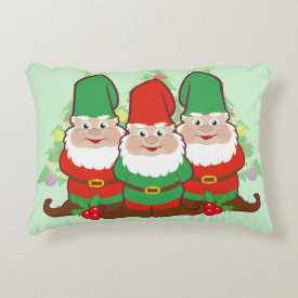 Holiday Gnomes Accent Pillow