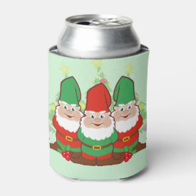 Christmas Gnomes Can Cooler