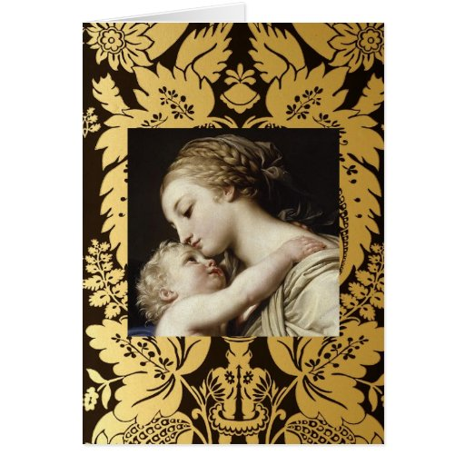 Christmas Greeting Card Madonna And Child Zazzle