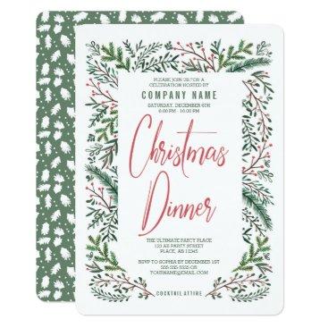 Christmas Holiday Party Company Dinner Invitation