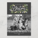 Christmas Holly-Holiday Photo Card