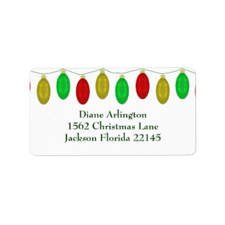 Christmas Lights Address Labels