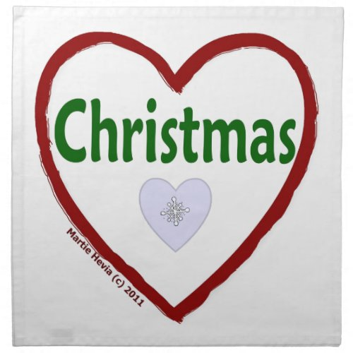 Christmas Love Cloth Napkin