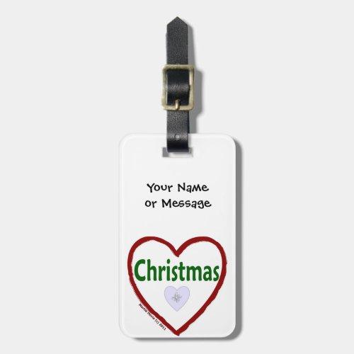 Christmas Love Luggage Tag