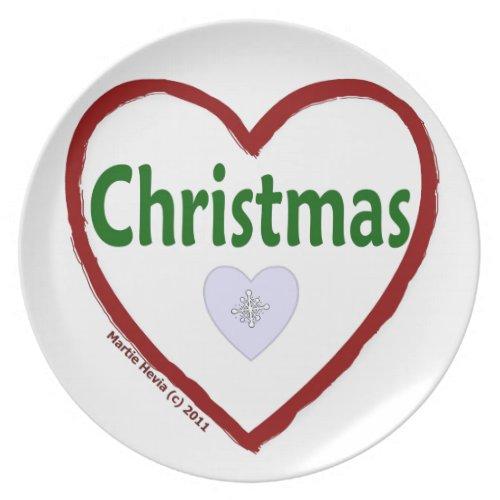 Christmas Love Plate
