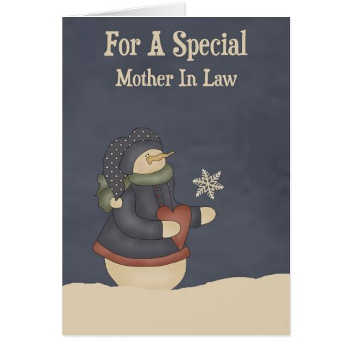Christmas Magic Snowflake Mother In Law Card | Zazzle