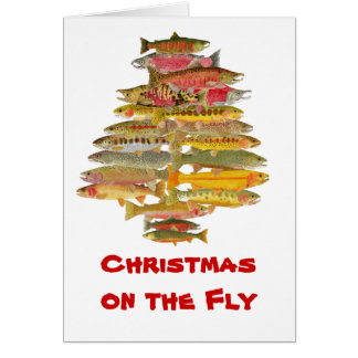 Fly Fishing Christmas Cards Zazzle