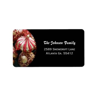 Christmas Ornament Address Labels