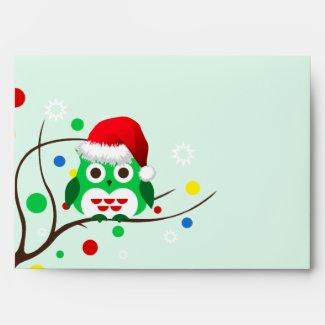 Christmas Owl Envelope