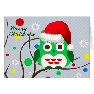 Christmas Owl Trend Greeting Card