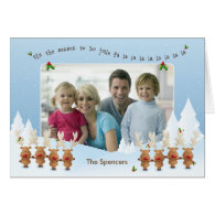 Christmas Photo Card with Singing Reindeer