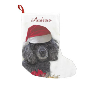 Christmas poodle dog personalized Stocking