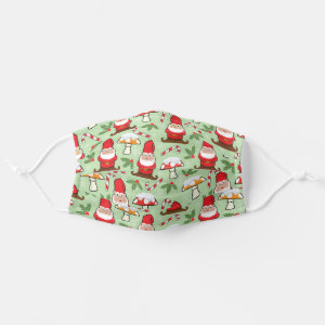 Christmas Santa Gnomes Design Cloth Face Mask