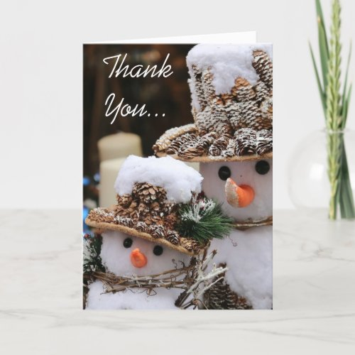 Christmas Snowmen Thank You Card by Photo Gifts by Sgolis