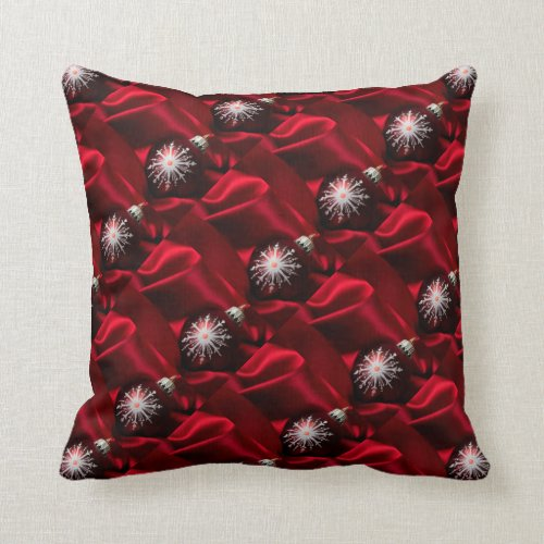 Christmas Throw Pillow/Ornaments and Silk Throw Pillow