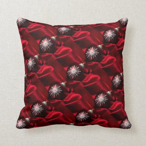 Christmas Throw Pillow/Ornaments and Silk Throw Pillow