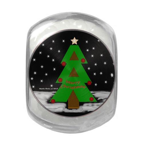 Christmas Tree - Candy Jar Glass Candy Jars