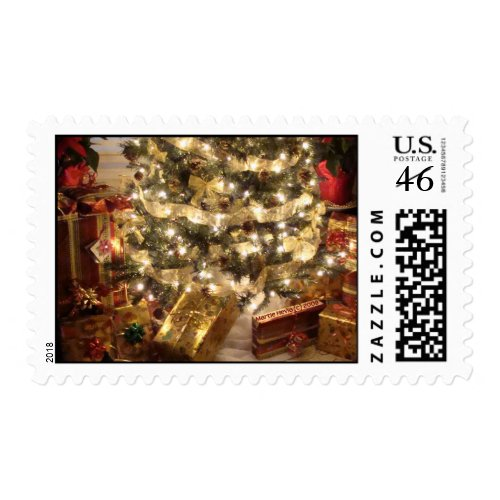 Christmas Tree & Gifts Postage stamp