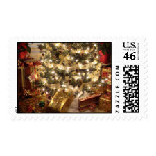 Christmas Tree & Gifts Postage