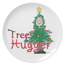 Christmas Tree Hugger plate
