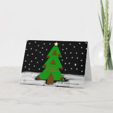 Christmas Tree Night - Personalize Card