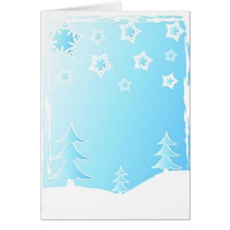 Christmas trees - Card card
