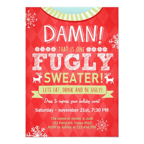 Ugly Christmas Sweater Party Ideas Amp Invitations