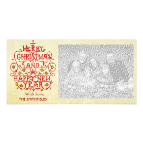 Christmas Vintage Typography Photo Card