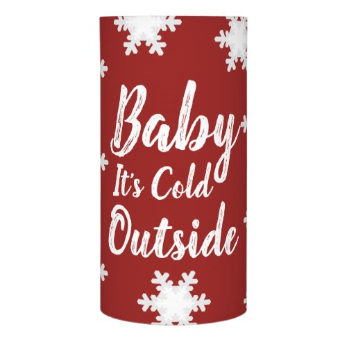 Christmas Winter Snowflakes Baby It's Cold Outside Flameless Candle