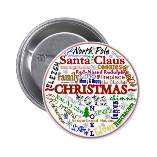 Christmas Word-Art - Button